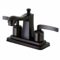 Kingston Brass FB4645EFL 4 in. Centerset Bathroom Faucet, Oil Rubbed Bronze - 1