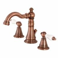 Fauceture FSC197PLAC English Classic Widespread Bathroom Faucet, Antique Copper - 1