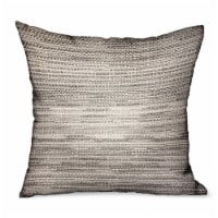 """Silver Lake Weave Silver Solid Luxury Outdoor/Indoor Throw Pillow Double sided  24"""" x 24"""