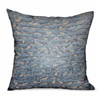 """Plutus Indigo Rivulet Blue Solid Luxury Outdoor/Indoor Throw Pillow Double sided  12"""" x 20"""
