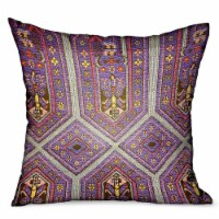"""Parisian Vibes Purple Geometric Luxury Outdoor/Indoor Throw Pillow Double sided  24"""" x 24"""