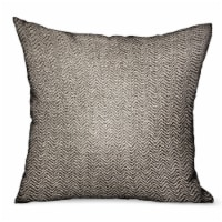 "Plutus Jagged Ash Gray Chevron Luxury Outdoor/Indoor Throw Pillow Double sided  18"" x 18"