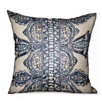 """Floret White/ Blue Paisley Luxury Outdoor/Indoor Throw Pillow Double sided  18"""" x 18 - 1"""