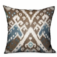 """Shoshone Valley Blue Brown Ikat Luxury Outdoor/Indoor Throw Pillow Double sided  18"""" x 18"""