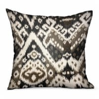 Kroger Plutus Amare Dream Brown Ikat Luxury Outdoor Indoor Throw Pillow Double Sided 16 X 16 1