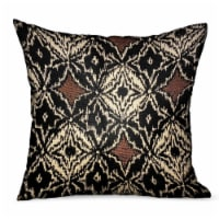 "Plutus Daliah Ice Black Chevron Luxury Outdoor/Indoor Throw Pillow Double sided  24"" x 24"