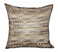 "Plutus Antique Zane Brown Dobby Luxury Outdoor/Indoor Throw Pillow Double sided  16"" x 16"