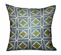 """Shamrock Gem Blue, Green Geometric Luxury Outdoor/Indoor Throw Pillow Double sided  20"""" x 20"""