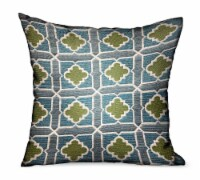 "Shamrock Gem Blue, Green Geometric Luxury Outdoor/Indoor Throw Pillow Double sided  22"" x 22"