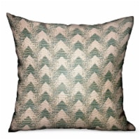 "Forest Jade Sea Green Chevron Luxury Outdoor/Indoor Throw Pillow Double sided  12"" x 20"