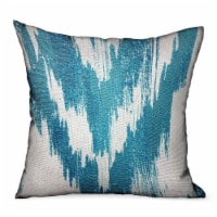Plutus Teal Avalanche Blue Ikat Luxury Outdoor Indoor Throw Pillow Double Sided 18 X 18 1 Kroger