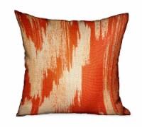 "Tangelo Avalanche Orange Ikat Luxury Outdoor/Indoor Throw Pillow Double sided  12"" x 20 - 1"