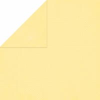"""BoBunny Double Dot Double-Sided Textured Cardstock 12""""X12""""-Mellow Yellow - 1"""