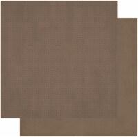 BoBunny Double Dot Double-Sided Textured Cardstock 12 X12 -Shiitake - 1