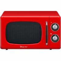 MAGIC CHEF 700-Watt Retro Countertop Microwave Oven - Red