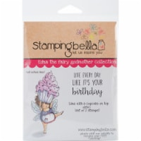Stamping Bella Cling Stamps-Edna With A Cupcake On Top - 1