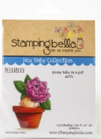 Stamping Bella Cling Stamps-Peony Baby In Pot - 1
