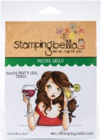 Stamping Bella Cling Stamps-Mochi Party Girl - 1