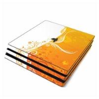 DecalGirl PS4P-ORANGECRUSH Sony PS4 Pro Skin - Orange Crush - 1
