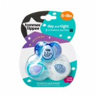 Tommee Tippee 6-18m Day And Night Orthodontic Pacifiers 3 Count