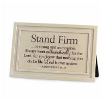 Lighthouse Christian Products 89531 Plaque - Stand Firm - No. 43015 - 1