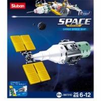 Sluban 731D SPACE - Cargo Space Ship Building Brick Kit (61pcs)