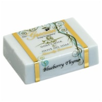 Greciansoap GMS-35 5 oz Blueberry Thyme Goats Milk Soap Bar - 1