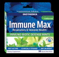 Enzymedica Immune Max Fresh Mint Flavor Immuno-Biotic Defense Quick Melt Mints - 30 ct