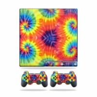 MightySkins PS3SLIM-Tie Dye2 Skin for Sony Playstation 3 PS3 Slim Skins Plus 2 ControllerStic - 1