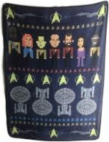 Star Trek The Next Generation Fleece Soft Throw Blanket - 1