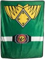 Power Rangers Green Ranger Fleece Soft -Throw Blanket - 1