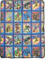 Marvel X-men Characters Comic Cards Fleece Soft-Throw Blanket - 1