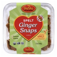 Shasha Bread Organic Spelt Ginger Snap Cookies - Case of 16 - 12 oz - Case of 16 - 12 OZ each