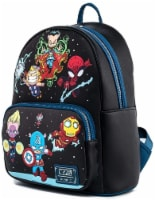 Loungefly Marvel Chibi Group Womens Double Strap Shoulder Bag Purse - 1