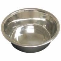 QT Dog 3544 Embossed Rim Medium 2 qt Stainless Steel Feeding Bowl