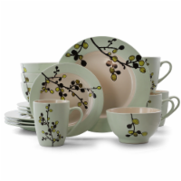 Elama Retro Bloom 16 Piece Luxurious Stoneware Dinnerware with Complete Setting for 4