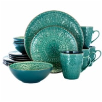 Elama EL-SEAFOAMMOZAIC Sea Foam Mozaic Luxurious Stoneware Dinnerware with Complete Setting f