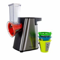 Megachef MGSM-16S 4 in. 1 Stainless Steel Electric Salad Maker