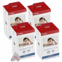Four Canon Kp-108in Selphy Color Ink 4x6 Paper Set 3115b001 For Selphy Cp910 Cp900 - 1