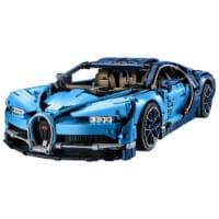 LEGO Technic Bugatti Chiron Race Car Scale Model Collectable Building Set, Blue - 1 Unit