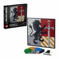 LEGO Harry Potter 31201 Plastic Hogwarts Crests Art 4249 Piece Building Kit - 1 Piece