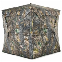 Gymax 3 Person Portable Hunting Blind Pop-Up Ground Tent w/ Gun Ports & Carrying Bag - 1 unit