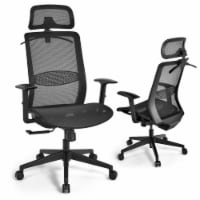 Gymax High Back Mesh Office Chair Swivel Executive Chair w/ Lumbar Support - 1 unit