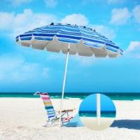 Gymax 8ft Beach Umbrella Outdoor Patio Garden w/ Carrying Bag Sand Anchor - 1 unit