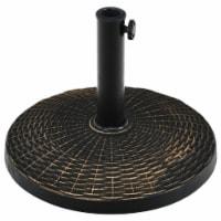 Gymax 22 lbs Round Resin Patio Umbrella Base Stand Holder w/ Adjustable Knob - 1 unit