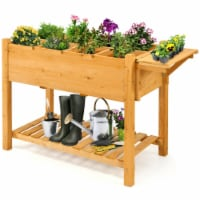 Gymax Raised Garden Bed Elevated Planter Box Kit w/8 Grids & Folding Tabletop - 1 unit