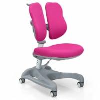Gymax Kids Study Desk Chair Adjustable Height Depth w/Sit-Brake Casters - 1 unit