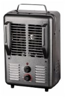 ProFusion Heat Milkhouse Utility Heater with Adjustable Thermostat - Gunmetal - 16.2 x 7.6 in
