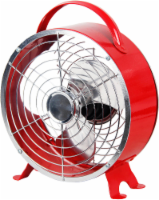Cool Works Retro Drum Fan - Red