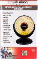 ProFusion Heat Oscillating Parabolic Heater with Timer - 14 in